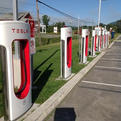 Tesla Fast Charging Station in Magog